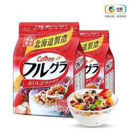 中粮 【中粮海外直采】 日本Calbee卡乐比北海道水果麦片500g
