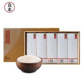 袁米 培良抽拉礼盒 海水稻新米送礼大米 长粒香粳米 碱生稻大米 非转基因 5kg