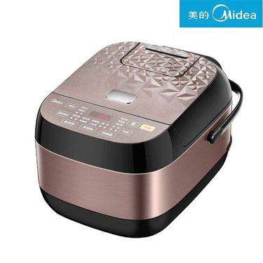 美的 智能电饭煲4L大容量 晶钻纹理外观微压焖香阀RS4083 深咖色