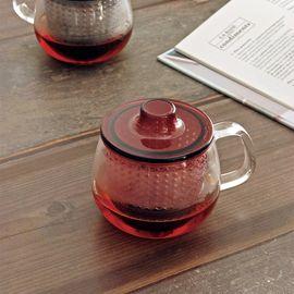 LIKUAI/利快 日本kinto耐热玻璃小茶壶 过滤茶杯 350ml