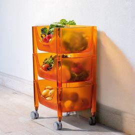 LIKUAI/利快 Guzzini意大利进口置物整理架筐收纳筐厨房推车