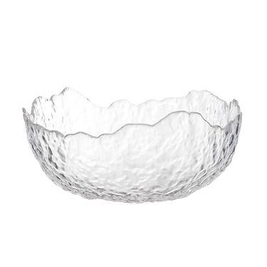 奇居良品 锤纹透明玻璃沙拉碗玻璃餐具