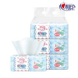 心相印 DT1120婴用型系列120抽三层塑装纸面巾1提3包【新疆西藏暂不配送 】