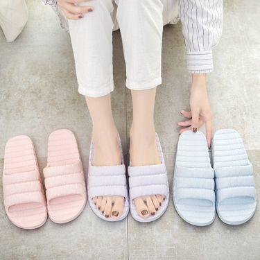 Doppio 简约厚底家居拖鞋 鞋码可选 颜色随机也可备注/DP-1801