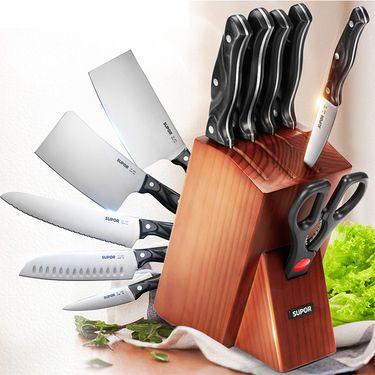 苏泊尔 不锈钢厨房刀具菜刀套装TK1609E