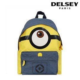 法国大使 (Delsey) 神偷奶爸3小黄人 中小学生书包男女 透气休闲双肩包 蓝黄色 70360760202