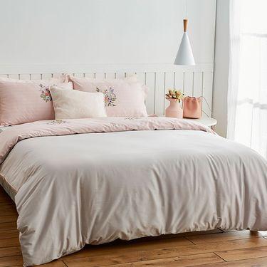 丽芙 60支全棉贡缎四件套(恋爱馨香)  1.2米单人床1.5米1.8m双人床品套件床单被套纯棉四件套件床上用品