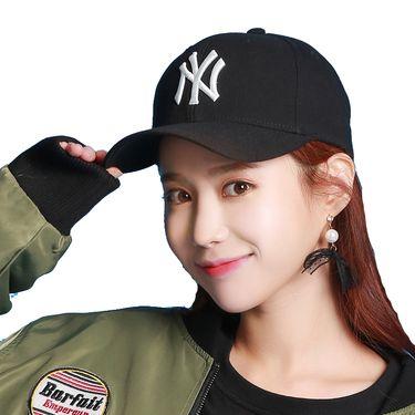 MLB 棒球帽NY洋基队 微檐男女鸭舌帽嘻哈遮阳帽 32CP07711-50L