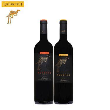 黄尾袋鼠 签名版珍藏梅洛西拉红葡萄酒750mlX2瓶装