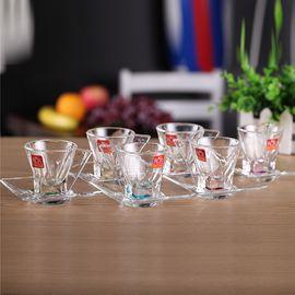RCR 意大利进口 熔合幻彩系列7CL无铅水晶晶质咖啡杯碟套装 6只装(配不锈钢咖啡勺)