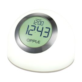 OPPLE欧普照明 LED小夜灯护眼床头台灯卧室照明闹钟灯七彩氛围灯 灵斓 白色
