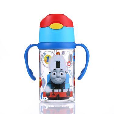 托马斯 Thomas双柄吸管水杯-蓝柄300ml tritan安全材质宝宝水杯学饮杯水杯茶杯宝宝杯 杯子