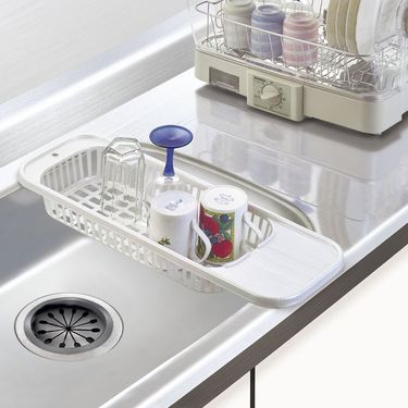SANADA 日本进口厨房沥水架 沥水篮 水槽架 餐具置物架 蔬菜水果整理架 滤水架