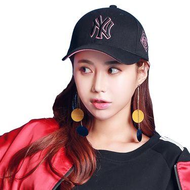 MLB 洋基队NY粉色帽棒球帽男女通用款鸭舌帽