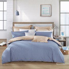LOVO 丝光棉床上四件套床单式套件双人1.5米床 日光机场(被套200x230cm)  VAC6403-2