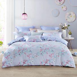 LOVO 印花床上四件套床单式套件双人1.5米床 绯红遐想(被套200x230cm)VTT6743-4