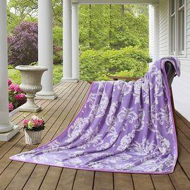 LOVO 紫烟超柔法兰绒四季毯 午睡空调毯盖毯 VQ394