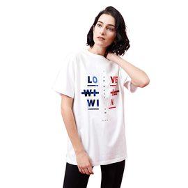 初语 2018夏装新款时尚港味衣服 街头风休闲宽松短袖纯棉t恤女百搭上衣8820131068