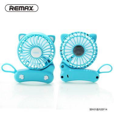 REMAX 睿量USB充电便携小电扇卡通学生宿舍静音猫咪折叠小风扇F14