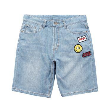 A21 夏装新款男装牛仔裤 休闲水洗个性男士青年时尚潮流短裤男裤子4821023007