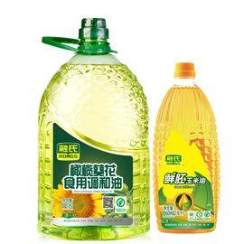 融氏 【非转基因】橄榄葵花食用调和油  5L/桶【赠送鲜胚玉米油860ML】