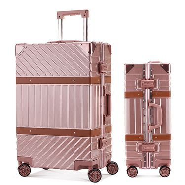 ZD/袋黛安 拉杆箱万向轮铝框皮箱旅行箱托运行李箱包硬箱男女通用登机箱