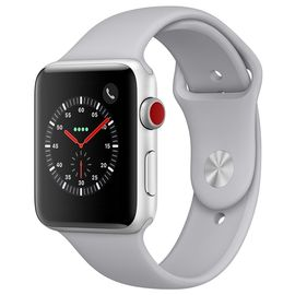 Apple/苹果 Apple Watch Series 4智能手表GPS+蜂窝网络款 44毫米 银色金属表壳 云雾灰色运动表带