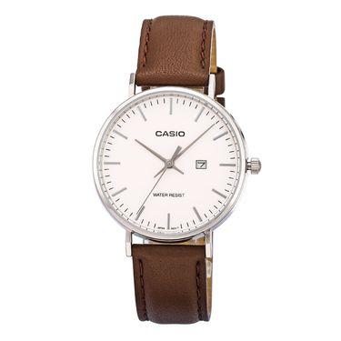 卡西欧 (CASIO)手表男女表情侣对表 时尚简约皮带防水LTH-1060L-7A