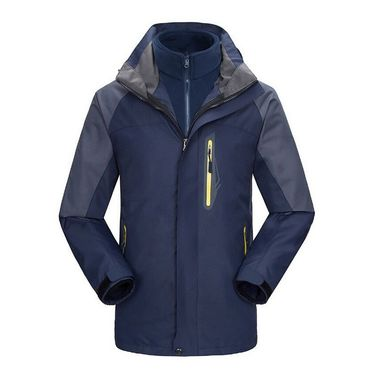 Makino 犸凯奴户外男士三合一冲锋衣两件套抓绒可拆卸防水保暖透气冲锋衣M1208