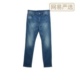 网易严选 男式仿弹力针织修身牛仔裤