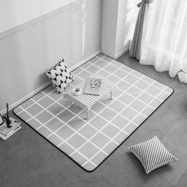 卡佩利丝  2018新款绒地垫-灰格(多规格可选)客厅地垫茶几垫飘窗垫YYJ