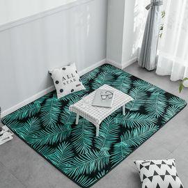 卡佩利丝 2018新款绒地垫-绿叶(多规格可选)客厅地垫茶几垫飘窗垫YYJ