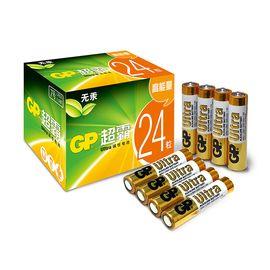 GP 超霸7号电池碱性七号电池24粒玩具遥控器挂钟电池