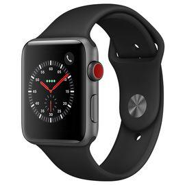 Apple/苹果 AppleWatchSeries3智能手表GPS+蜂窝网络款 42毫米深空灰色铝金属表壳黑色运动型表带