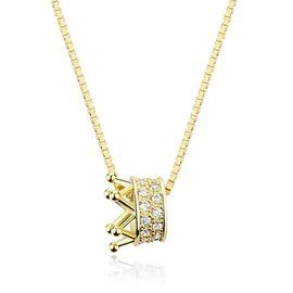 静风格 项链S925银锁骨链女项圈皇冠颈链简约配饰品短款个性吊坠女 皇冠造型项链JA180S6002