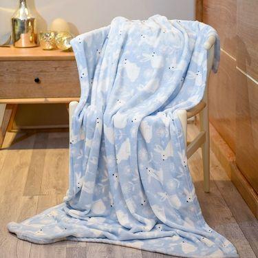 恋邑  法兰绒毛毯 亲肤舒适大人儿童休息空调毯 四季可用100*150cm