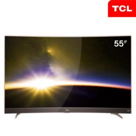 TCL 55英寸曲面4K智能平板电视超窄金属边框55P3