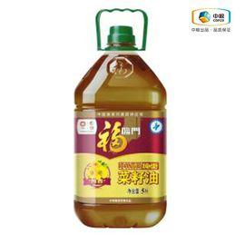 福临门 【中粮福临门1.9-1.12品牌钜献】非转基因纯香菜籽油 5L 健康食用油(JF)