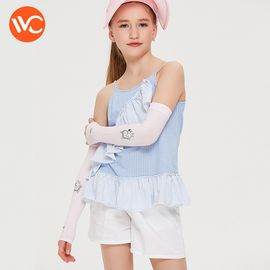 VVC 儿童冰丝袖套夏季防晒袖子防紫外线手臂套长款卡通护臂套