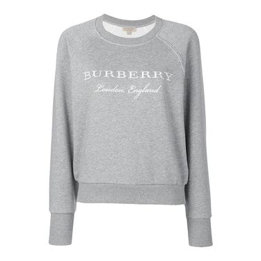 BURBERRY Logo刺绣棉质混纺女士卫衣4056172  联正国际