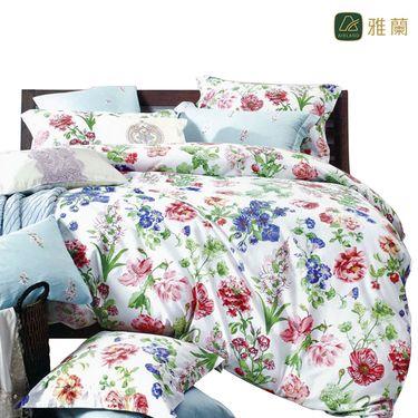 雅兰 家纺清幽花梦高支高密床品四件套1.8米床适用