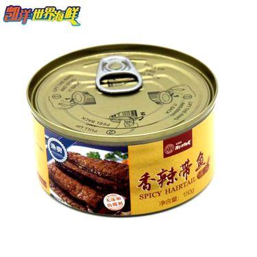 凯洋世界海鲜 香辣带鱼罐头150g