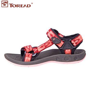 探路者 2018夏季女款沙滩鞋轻便透气防滑凉鞋TFGG82717