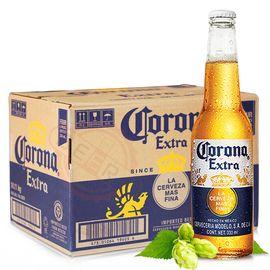 科罗娜 墨西哥原装进口啤酒瓶装 科罗娜啤酒330ml*24瓶整箱