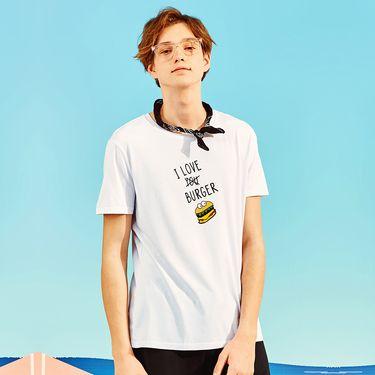 A21 男士短袖T恤男夏季男装修身圆领夏装卡通图案体恤潮流4711330002