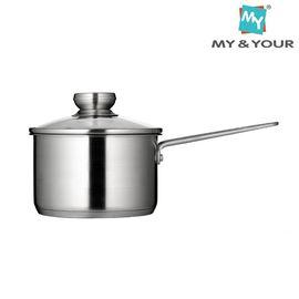 MYYOUR 欧式加厚复底不锈钢奶锅16cm煮牛奶锅电磁炉通用