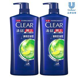 清扬 【全新升级】男士去屑洗发露清爽控油型 900G*2瓶装