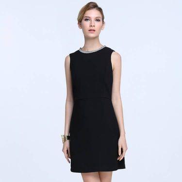 Good Future齐菲却 女装无袖连衣裙背心裙 GF12120003 黑色
