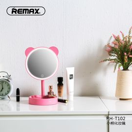 REMAX RH-T102 小熊化妆镜美妆镜置物收纳盒触摸调节灯光档位镜子