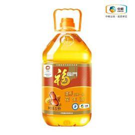 福临门 浓香压榨一级花生油 3.5L 健康食用油 滴滴浓香 精选原料 营养放心
